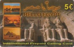 Télécarte Prépayée EGYPTE - Site ABOU SIMBEL RAMSES II Pyramide CHAMEAU CAMEL - EGYPT Prepaid Phonecard - 179 - Aegypten