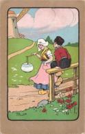 Illustrateur Illustration Pinot Pays Bas Netherland Folklore Moulin Fille Porteuse Eau Garçon - Illustrateurs & Photographes