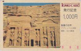 Rare Carte Japon - Site EGYPTE - ABOU SIMBEL Pharaon RAMSES II - EGYPT Japan Prepaid Tomo Card - 187 - Cultura
