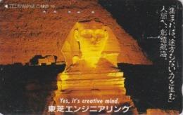 Télécarte Japon / 110-011 - Site EGYPTE - PYRAMIDE & SPHINX Sunset - EGYPT Rel. Japan Phonecard - 188 - Cultura