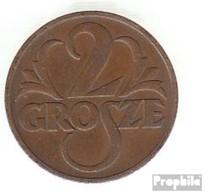 Pologne Km-no. : 9 1935 Très Déjà Bronze Très Déjà 1935 2 Grosze Couronné Adler - Pologne
