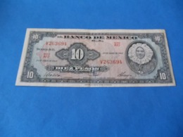 Billet 10 Pesos 1963 , Mexique - Mexique