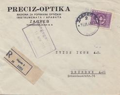 Jugoslawien: 1949: Einschreiben Ljublijana Nach Dresden - Yugoslavia