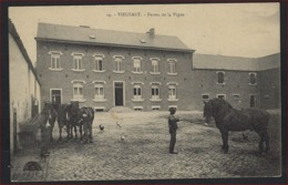 Postkaart Van VIEUSART Ferme De La Vigne Gefrankeerd ALBERT I ; Staat Zie 2 Scans ! - Chaumont-Gistoux