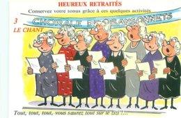 Illustrateur Alexandre - Humour Heureux Retraités    AW 292 - Humour