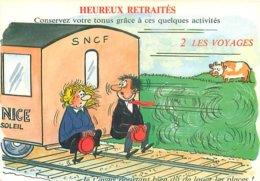 Illustrateur Alexandre - Humour Heureux Retraités   AW 315 - Humour