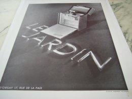 ANCIENNE PUBLICITE PARFUM LE JARDIN DE  D ORSAY 1931 - Perfume & Beauty