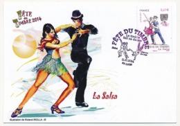 France - Carte Fédérale - Fête Du Timbre 2014 - Le Timbre Fait Sa Danse - LYON - Brieven En Documenten