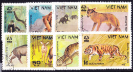 Vietnam - Säugetiere (MiNr: 1155/62) 1981 - Gest Used Obl - Vietnam