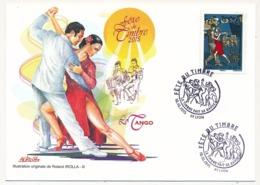 France - Enveloppe Fédérale - Fête Du Timbre 2015 - Le Timbre Fait Sa Danse (Le Tango) -  LYON - France