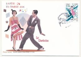 France - Enveloppe Fédérale - Fête Du Timbre 2016 - Le Timbre Fait Sa Danse (Le Charleston) -  LYON - France