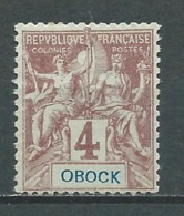 OBOCK 1892 . N° 34 Neuf * (MH) . - Neufs