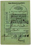 """""""OSNABRÜCK"""" Seltener NDP Posttschein Für Wertbriefe  über 3.000 Thaler 1868 - Norddeutscher Postbezirk (Confederazione Germ. Del Nord)"""