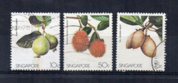 SINGAPORE - 1986 - Frutta - 3 Valori - Usati - (FDC18052) - Frutta