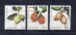 SINGAPORE - 1986 - Frutta - 3 Valori - Usati - (FDC18052) - Singapore (1959-...)