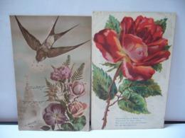 LOT DE 10 CPA ILLUSTRATIONS THÈME NATURE FLEURS LOT NUMÉRO 11 - 5 - 99 Cartoline