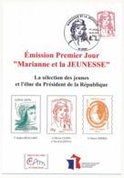 FRANCE - Carte Maximum - Marianne Et La Jeunesse - Lettre Prioritaire - LYON 15/07/2013 - Cartoline Maximum