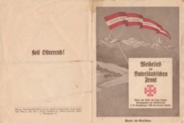 DEPLIANT AUSTRIA VATERLAMDISCHE FRONT (BK819 - Oostenrijk