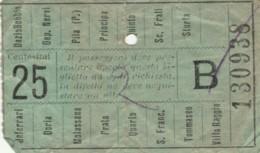 BIGLIETTO BUS GENOVA CENT.25 (BK898 - Europa