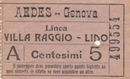 BIGLIETTO BUS GENOVA CENT.5 (BK905 - Europa