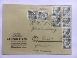 GERMANY 1947 Allied Cover Neuerburg To Trier Multistamped With Geschaftspapiere Cachet - Französische Zone