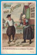 IMAGE CACAO VAN HOUTEN MANUFACTURE ROYALE FABRICANTS C. J. VAN HOUTEN & ZOON A WEEPS-HOLLANDE / UN PECHEUR ILE DE MARKEN - Van Houten