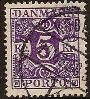 DENMARK 1921 5k Postage Due SG D236 U #HI111 - Port Dû (Taxe)
