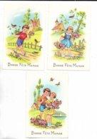 """Lot De 3 Magnifiques Cartes Postales """" Bonne Fête Maman """" Ornées De Dorures. - Día De La Madre"""