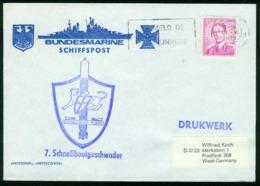 Er Belgium German Navy Cover, 7. Schnellbootgeschwader, Schnellboot Puma, Bundesmarine Schiffspost | Gent 18.6.1970 - Belgium