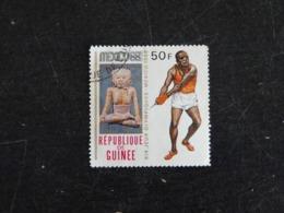 GUINEE YT 378 OBLITERE - JEUX OLYMPIQUES MEXICO 68 - LANCER MARTEAU ATHLETISME - Guinée (1958-...)