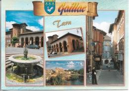 81 - GAILLAC - Multi Vues De GAILLAC - 4 Vues - 1 Joli Timbre Philatélique Au Verso - Voir Scan - Cpm - écrite - - Gaillac