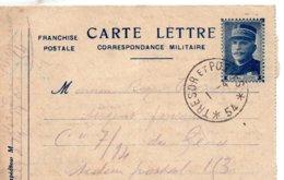 "L- Correspondance Militaire -  Simili- Timbre "" Joffre ""- T Et P *54*- - Marcofilia (sobres)"