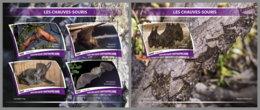 CENTRALAFRICA 2019 MNH Bats Fledermäuse Chauves-souris M/S+S/S - OFFICIAL ISSUE - DH1943 - Bats