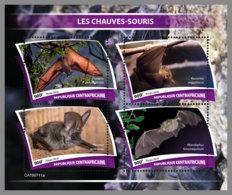 CENTRALAFRICA 2019 MNH Bats Fledermäuse Chauves-souris M/S - OFFICIAL ISSUE - DH1943 - Bats