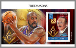 MALDIVES 2019 MNH Freemasons Freimaurer Francs-macons S/S - OFFICIAL ISSUE - DH1942 - Freimaurerei