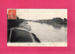 47 Lot Et Garonne, AGEN, La Garonne Et Les Quais, Animée, 1912, (P. P.) - Agen