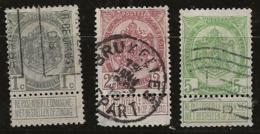 Belgique 1907 N°Y.T. :  81 à 83 Obl. - 1893-1907 Coat Of Arms
