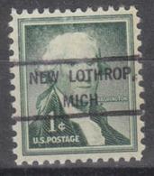 USA Precancel Vorausentwertung Preo, Locals Michigan, New Lothrop 807 - Vereinigte Staaten