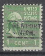 USA Precancel Vorausentwertung Preo, Locals Michigan, Newport 729 - Vereinigte Staaten