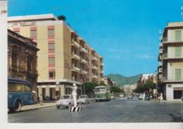 MESSINA VIA T. CANNIZZARO' E PALAZZO DEL FORO BUS CORRIERE VIGILE URBANO AUTO - Messina