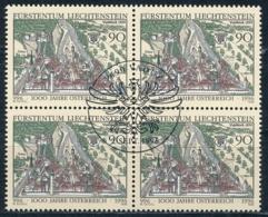 Zumstein 1079 / Michel 1137 Viererblockserie Mit ET-Zentrumstempel - Used Stamps