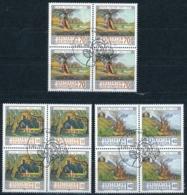 Zumstein 1080-1082 / Michel 1138-1140 Viererblockserie Mit ET-Zentrumstempel - Used Stamps