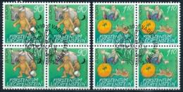 Zumstein 1087-1088 / Michel 1145-1146 Viererblockserie Mit ET-Zentrumstempel - Used Stamps