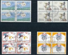 Zumstein 983-986 / Michel 1041-1044 Viererblockserie Mit ET-Zentrumstempel - Used Stamps
