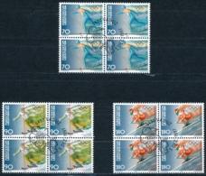 Zumstein 1104-1106 / Michel 1162-1164 Viererblockserie Mit ET-Zentrumstempel - Used Stamps