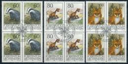Zumstein 1008-1010 / Michel 1066-1068 Viererblockserie Mit ET-Zentrumstempel - Used Stamps