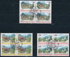 Zumstein 1090-1092 / Michel 1148-1150 Viererblockserie Mit ET-Zentrumstempel - Used Stamps