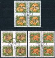 Zumstein 1094-1096 / Michel 1152-1154 Viererblockserie Mit ET-Zentrumstempel - Used Stamps