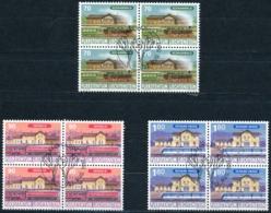 Zumstein 1097-1099 / Michel 1155-1157 Viererblockserie Mit ET-Zentrumstempel - Used Stamps