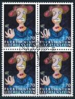 Zumstein 1100 / Michel 1158 Viererblockserie Mit ET-Zentrumstempel - Used Stamps